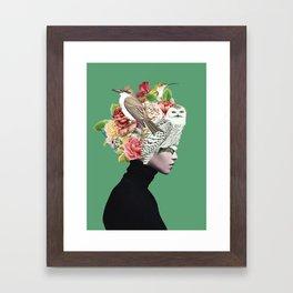 Lady with Birds(portrait) 2 Framed Art Print