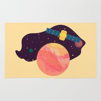katamari Area & Throw Rugs featuring Satellite by badOdds