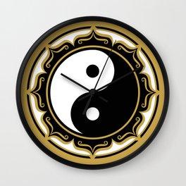 Yin Yang Lotus Wall Clock