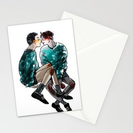 Boys in shorts Stationery Cards
