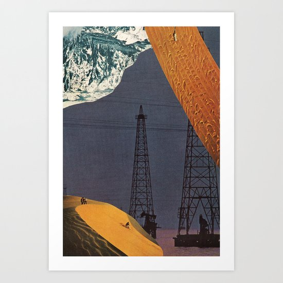 gold dream Art Print
