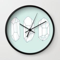 Three Lucky Crystals Wall Clock