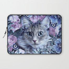 Cat In Flowers. Winter Laptop Sleeve