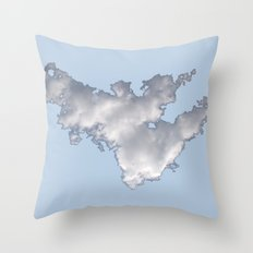 Cloud on Blue 2 Throw Pillow