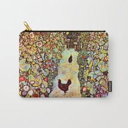 Gustav Klimt Garden with Roosters Carry-All Pouch