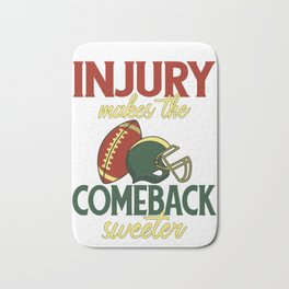 Concussion Injury Makes the Comeback Sweeter Football Concussion Bath Mat