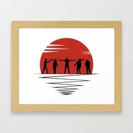 Zombie Controol (Moon headshot) Framed Art Print