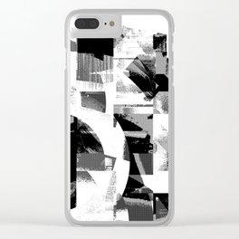 Circle Glitch Clear iPhone Case