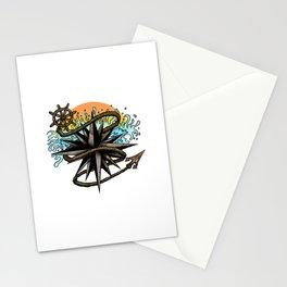 Nautical Splash Stationery Cards