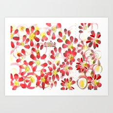 Flowers make me Smile Art Print