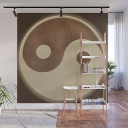 Jin Jang wooden marquetry picture art Wall Mural