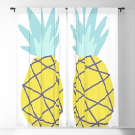 pinapple graphic Blackout Curtain