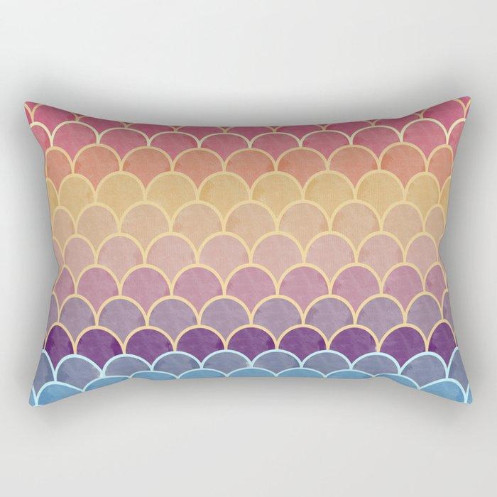 Watercolor Lovely Pattern VVIV Rectangular Pillow
