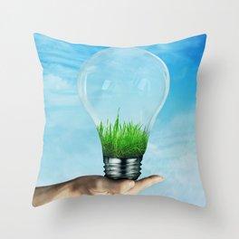 Save Green Concept Throw Pillow