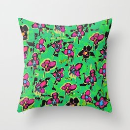 The Power Of The Flower Throw Pillow