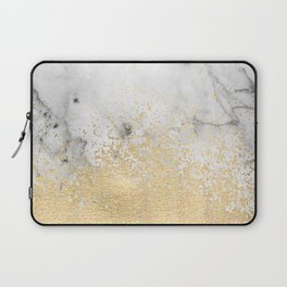 Gold Dust on Marble Laptop Sleeve