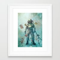 fish Framed Art Prints featuring Deep Sea Garden  by Terry Fan