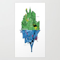 From Paris to New York and back Art Print
