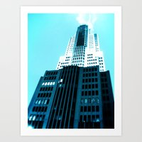 comic book Art Prints featuring Comic Book Chicago by A/B Photography