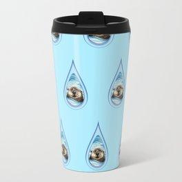 Sea Otter Drip Pattern Travel Mug