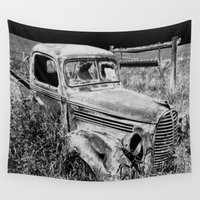 truck Wall Tapestries featuring Old Truck by Artist TLynn Brentnall