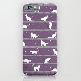 Cats Pattern (purple) iPhone Case