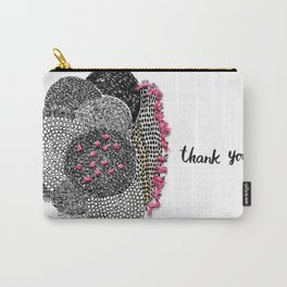 Thank you bohemian graphic abstract pattern Carry-All Pouch
