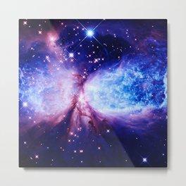 Galaxy : A Star is Born Blue Purple Metal Print