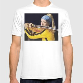 """Vermeer's """"Girl with a Pearl Earring"""" & Kill Bill T-shirt"""