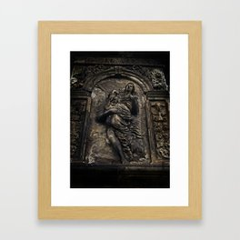 Monument Detail - Man and Woman Framed Art Print