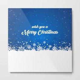 Wish you a Merry Christmas Metal Print