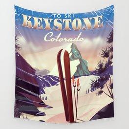 Keystone Colorado Ski poster Wall Tapestry