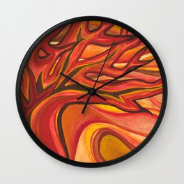 The Tree on Fire Wall Clock