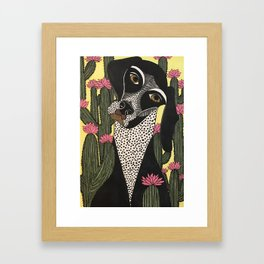 How Did I Get Stuck in This Field of Cactii? Framed Art Print