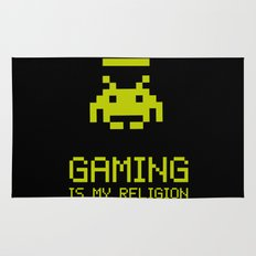 Gaming is my religion Rug