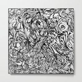 Conquer (Black & White Version)  Metal Print