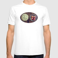 Beginning and End Mens Fitted Tee SMALL White