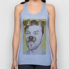 Misha Collins, watercolor painting Unisex Tank Top