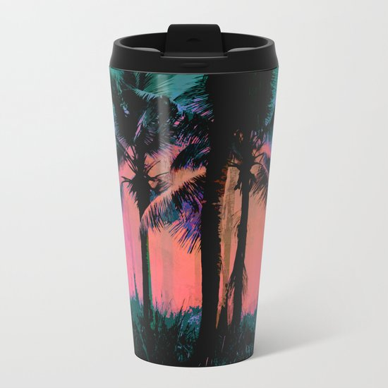 Tropical Sunset Metal Travel Mug