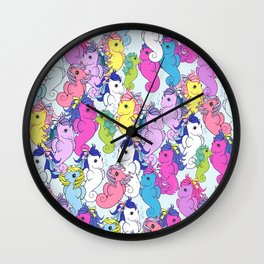 g1 my little pony sea pony collage Wall Clock