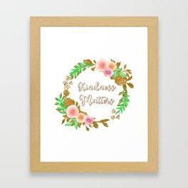 Kindness Matters - Floral Reath Framed Art Print