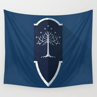 shield Wall Tapestries featuring Shield of Gondor by DWatson