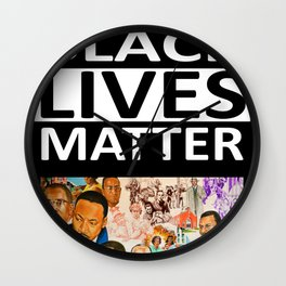 Black Lives Matter - African American Leaders and Heroes Wall Clock