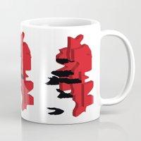 japan Mugs featuring JAPAN by Joe Pansa