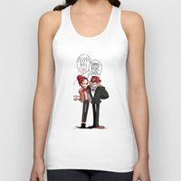 fez Tank Tops featuring Fez Bros by M-chi