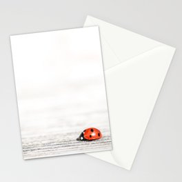 The little red ladybug in the big world   nursery   children's art   fine art   natural   Stationery Cards
