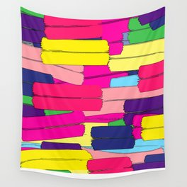 Colours are brighter when the mind is open. Wall Tapestry