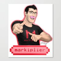 markiplier Canvas Prints featuring Markiplier (Warfstache) by that Random Person