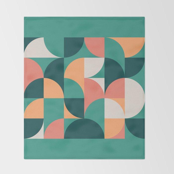 Mid Century Geometric 20 Throw Blanket