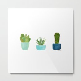 Three Cacti Metal Print
